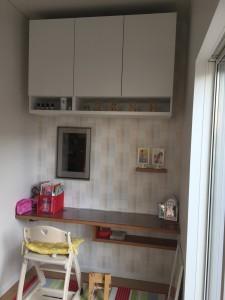 キッチン正面の増築部分
